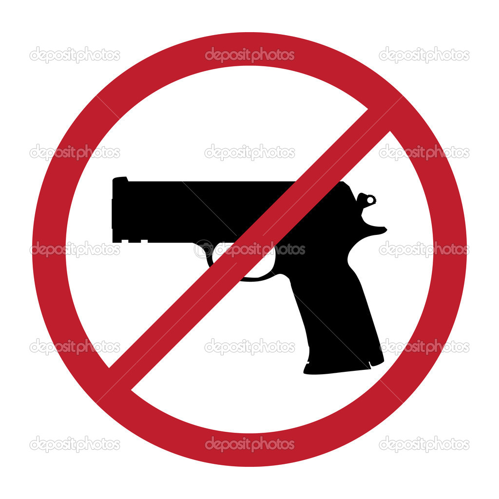 No gun sign - isolated illustration — Stock Vector #6822467