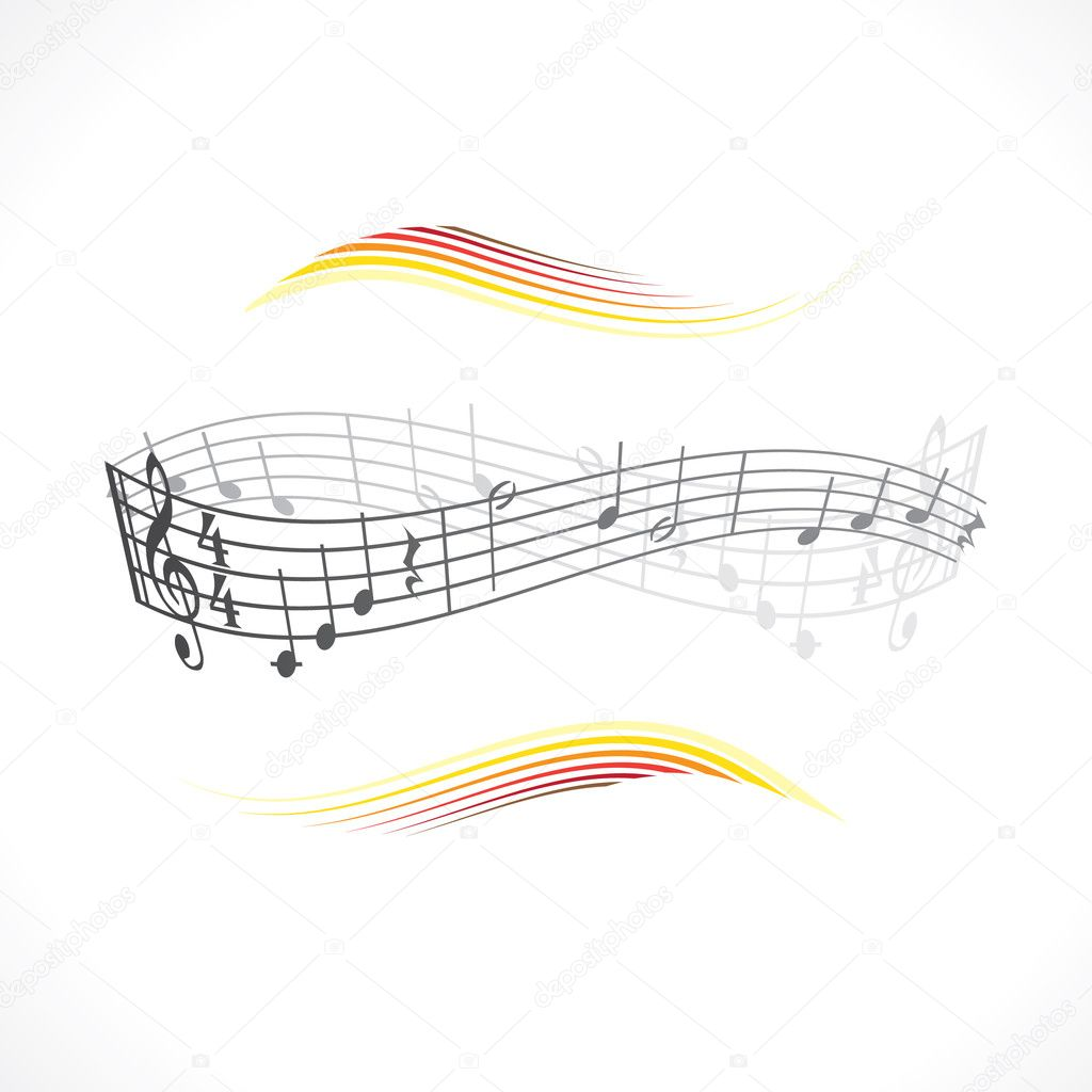 Abstract musical background theme illustration — Stock Vector #6822796