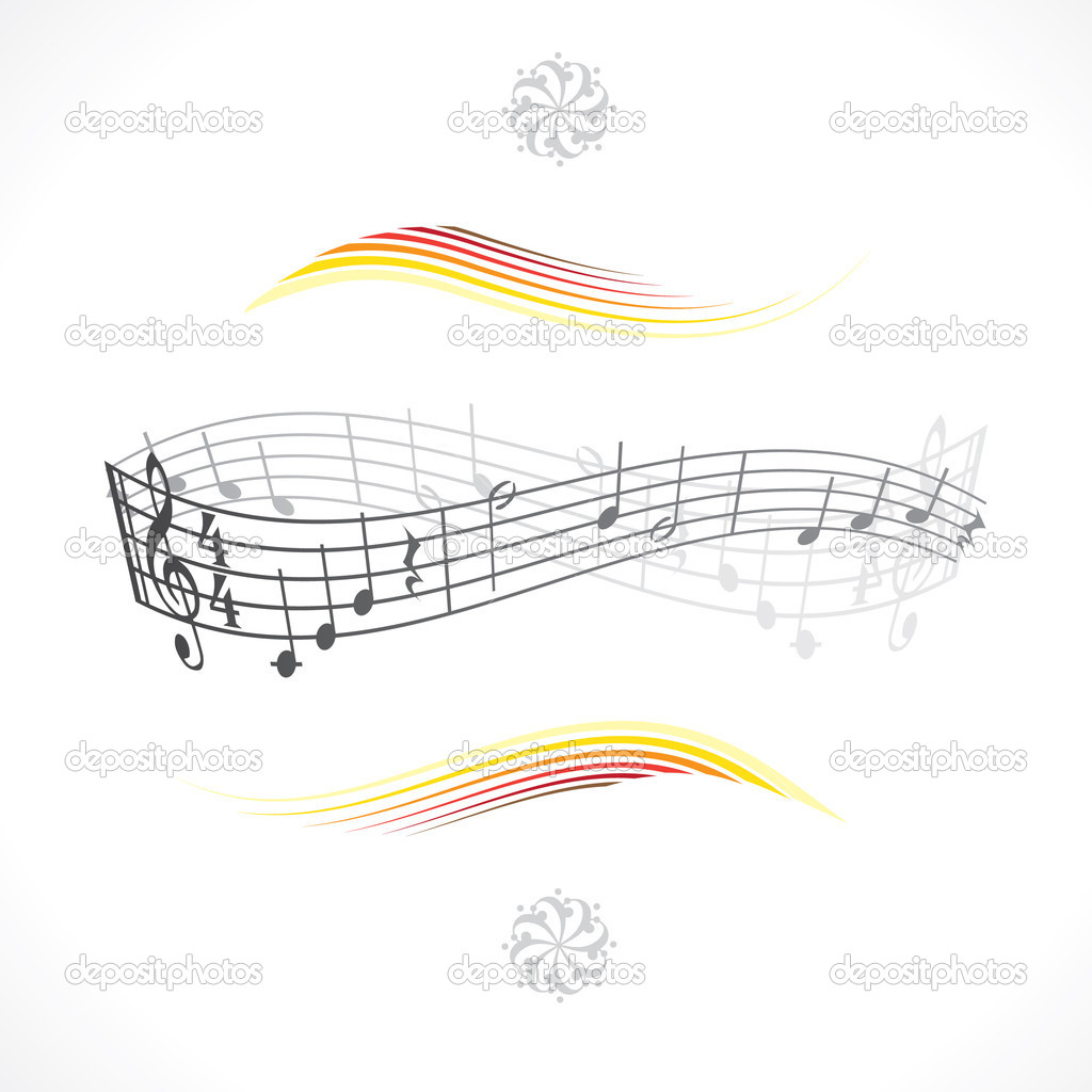 Abstract musical background theme illustration — Stock Vector #6822797