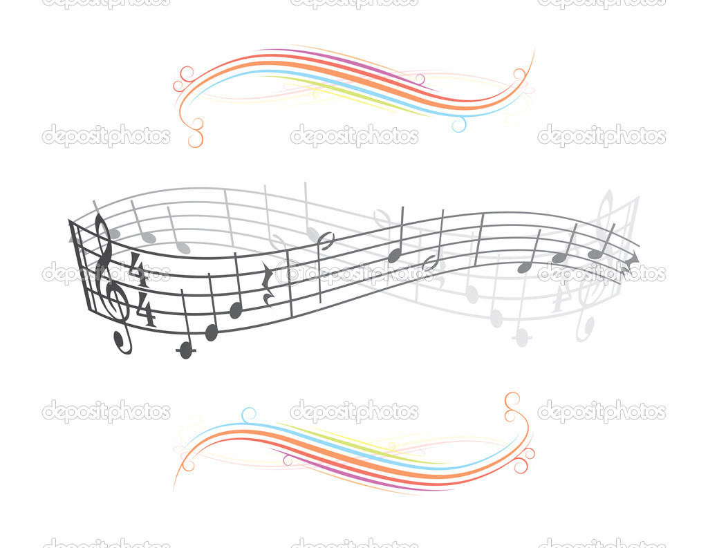 Abstract musical background theme illustration — Stock Vector #6822800