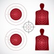Set of targets — Stock Vector #6831828