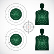 Unused and set the targets — Stock Vector