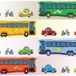 Cartoon vehicles — Vector de stock #6833406