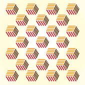 Retro cubes — Stock Vector