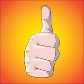 Thumb up — Vector de stock