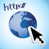 Earth web — Stock Vector