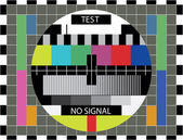 TV color test — Stock Vector