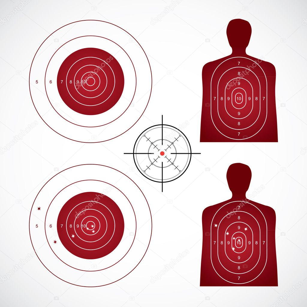 Unused and set the targets - illustration — Stock Vector #6831828