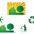 Bio eco icon — Stock Vector #7025174