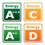 Energy class tag — Stock Vector #7025179