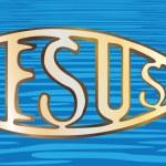 Christian fish symbol — Stock Vector