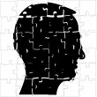 Royalty-Free Stock Vector Image: Head from puzzle