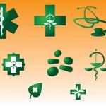 Medical symbols and stuff — Stock Vector