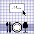 Menu card design - Stock Vector