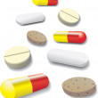 Some pills — Stock Vector