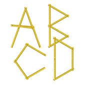 Lettere dell'alfabeto — Vettoriale Stock