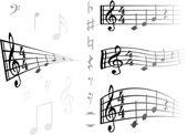 音楽的な背景ανάχωμα σε lazise — ストックベクタ