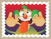 Payaso garabato — Vector de stock
