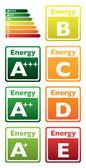 Energy class tag — Stock Vector