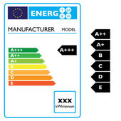Energy effiency label — Stock Vector