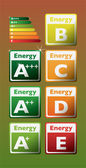 Set of energy class tag — Stock Vector