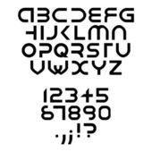 Carattere futuristico alfabeto — Vettoriale Stock