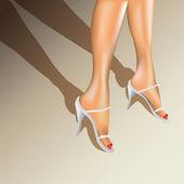 женщина ноги — Cтоковый вектор