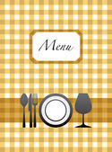 Menu card design — Stock Vector
