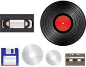 Old media for recording / playback — Stock Vector