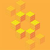 Iso cubos — Vector de stock