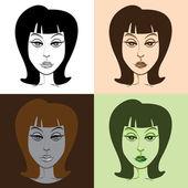 流行艺术的女人 — 图库矢量图片