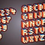 3D Pixel alphabet — Stock Vector #7611043