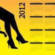 2012 calendar with hot women´s legs — Stock Vector