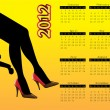 2012 calendar with hot women´s legs — Stockvectorbeeld