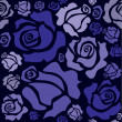 Blue roses - Stockvectorbeeld