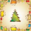 Hristmas tree — Stock Vector