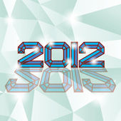 2012 logo — Vector de stock