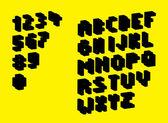 3D Pixel alphabet silhouette — Stock Vector