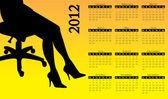 2012 calendar with hot women´s legs — Stockvector