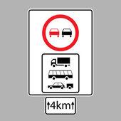 Set of road signs — Cтоковый вектор