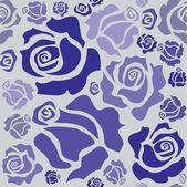 Rosas blue — Vector de stock