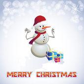 снеговик — Cтоковый вектор