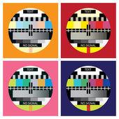 Teste de cores de televisão — Vetorial Stock