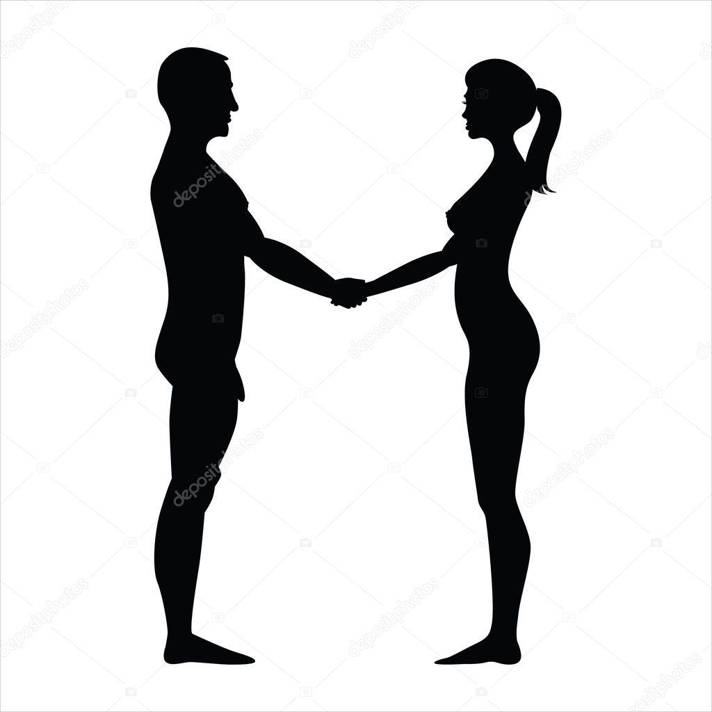 girls holding men nude