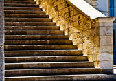 Stone cathedral stairs — Stock Photo