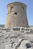 Torre di vedetta di pietra antica — Foto Stock