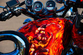 Motorcycle with airbrushing — Stock Photo