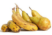 Ecological pears and bananas — Stock Photo