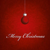 Christmas background vector image red ball — Stock Photo