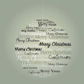 Christmas ball with text — Stock Vector